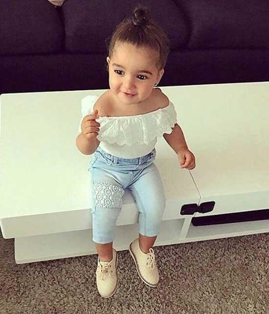 Cute Little Girl Summer Denim Outfits-19