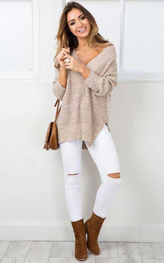 Casual Fall White Outfits-20