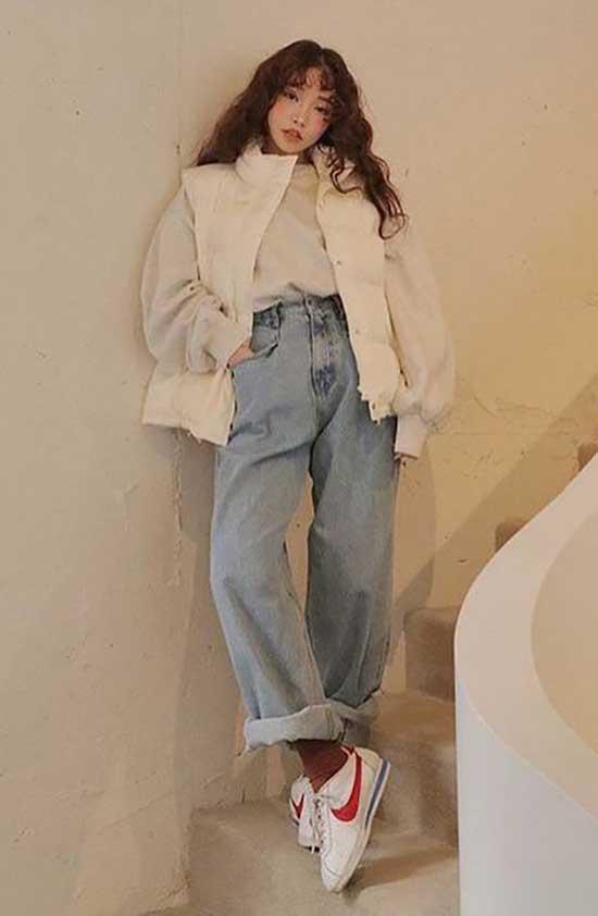 Korean Jeans Outfit Ideas-20