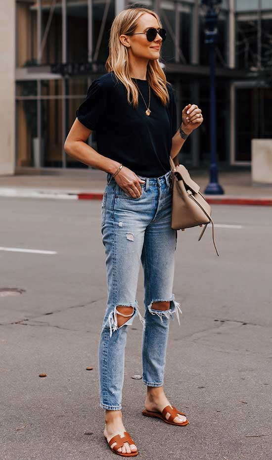 Cute Casual Summer Jeans Outfits-23