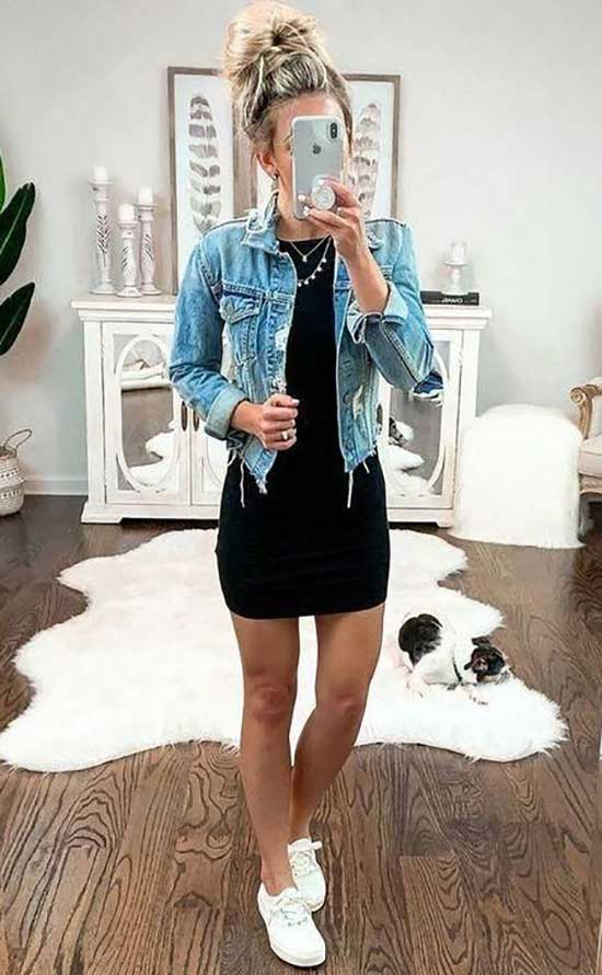 Summer Denim Jacket Outfits for School-23