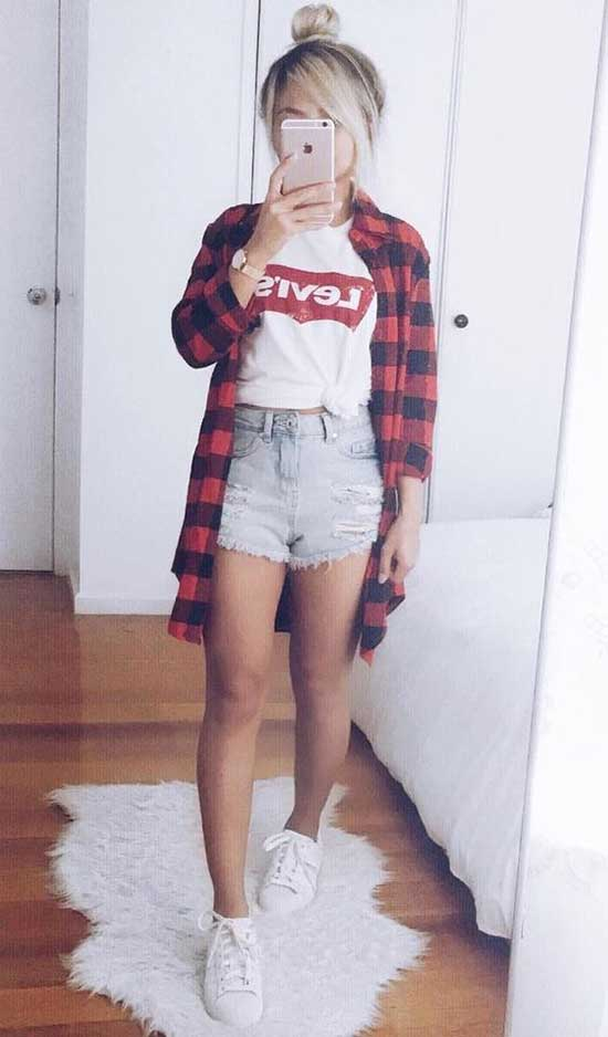 Adorable Summer Outfits for School-24