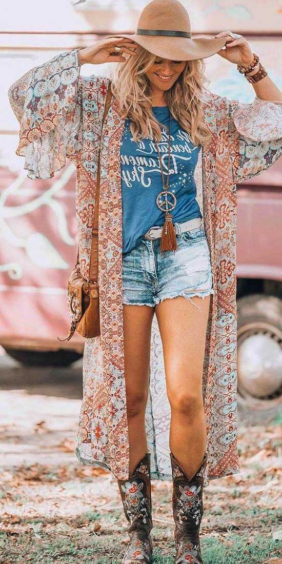 Cute Casual Summer Boho Outfits-32