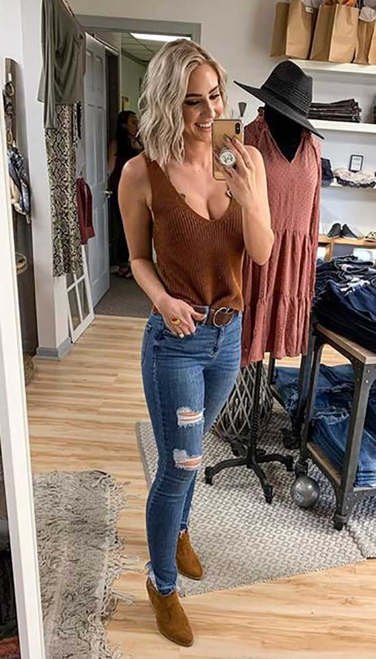 Outfits with Skinny Jeans-35