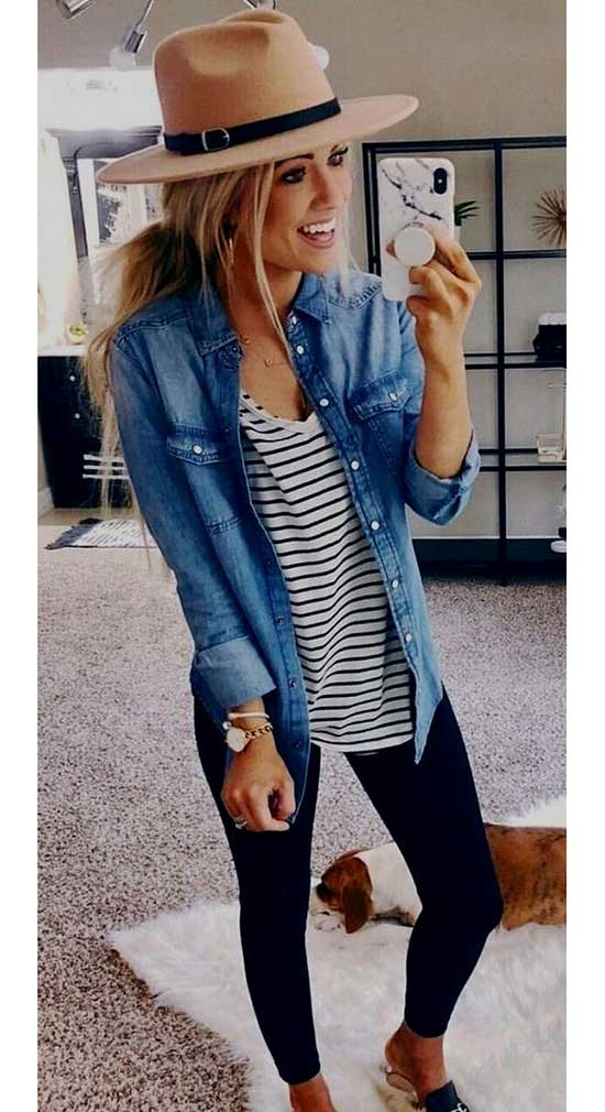 Casual Fall Denim Outfits-6