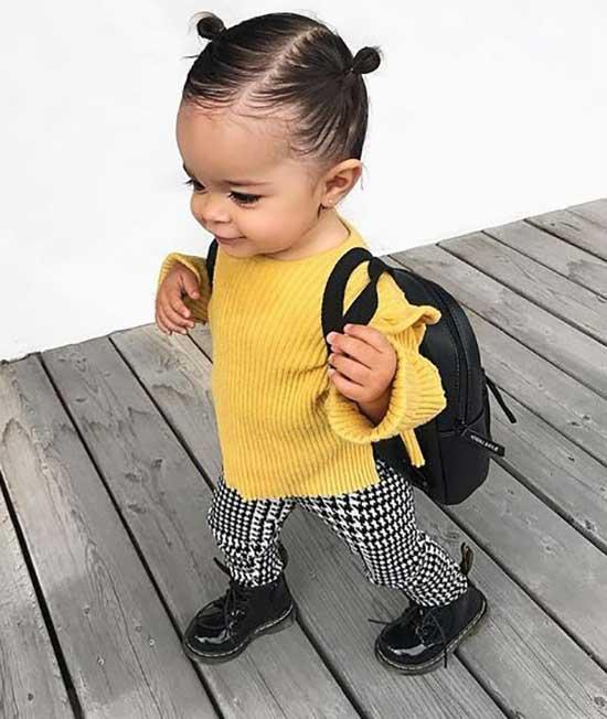 Cute Little Girl Yellow Summer Outfits-7