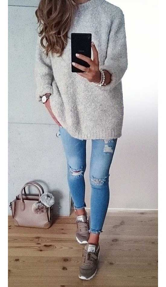 Casual Fall Sneakers Outfits-8