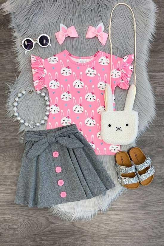 Cute Little Girl Summer Outfits 2020-8
