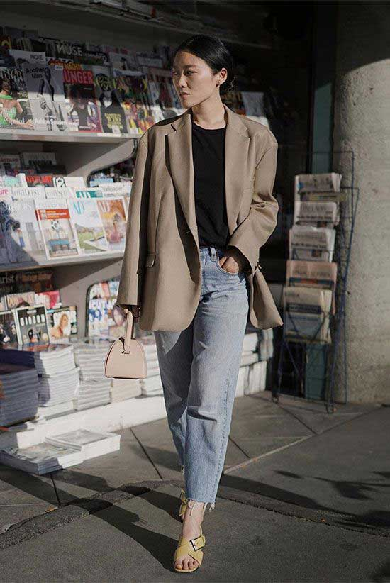 Casual Beige Blazer Outfits