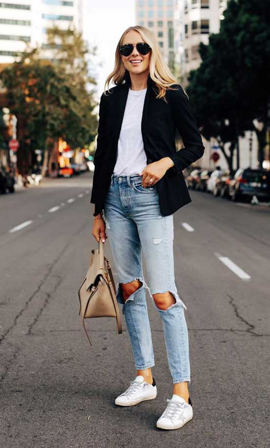 Casual Blazer Street Style Outfits