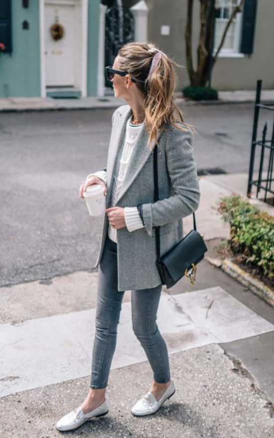 Casual Gray Blazer Outfits