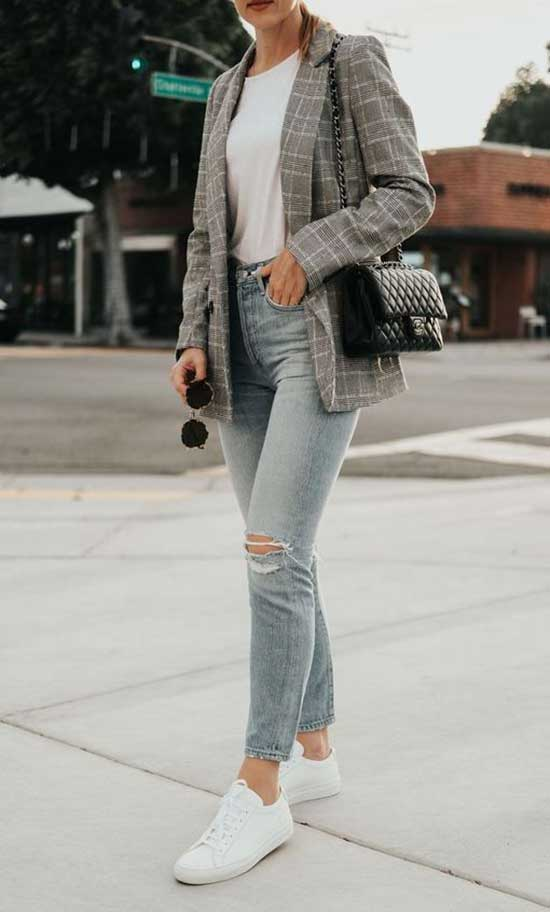 Casual Plaid Blazer Outfits