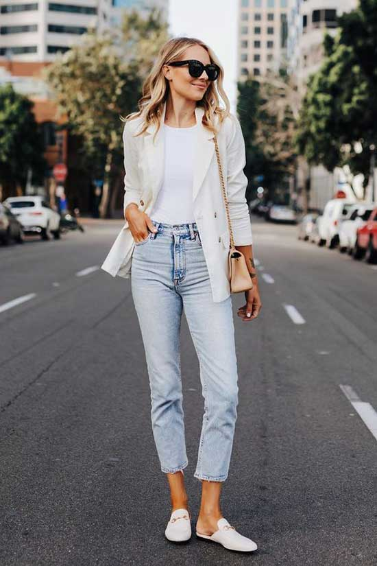 Casual White Blazer Outfits