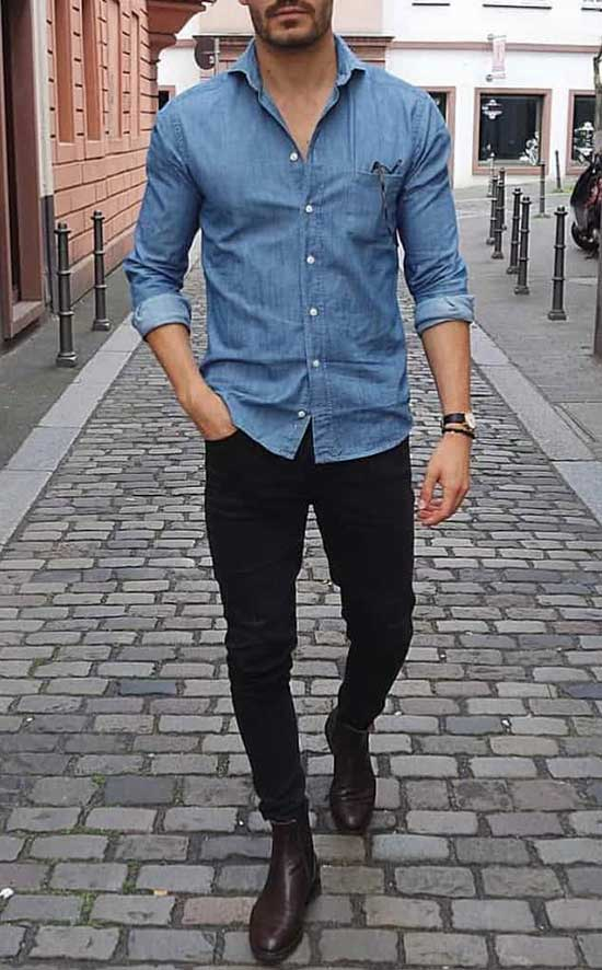 Date Night Denim Outfits for Men