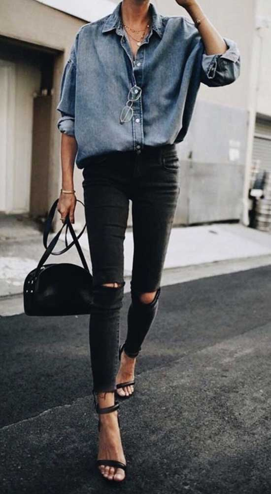 Street Style Outfits with Skinny Jeans