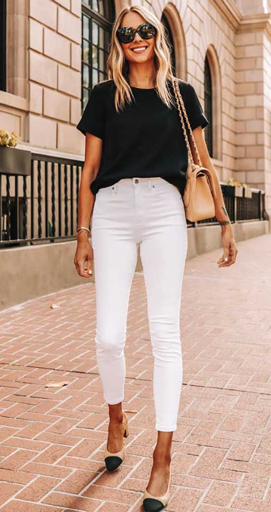 Outfits with White Skinny Jeans