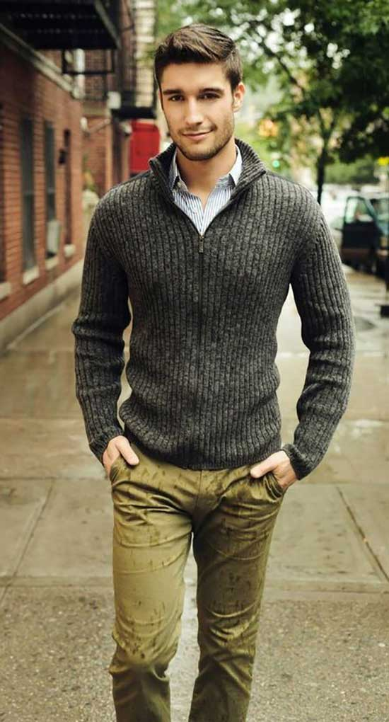 Fall Sweater Outfits for Men-20