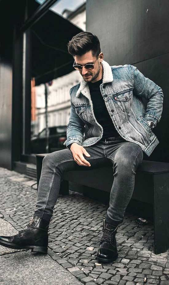Fall Denim Outfits for Men-28