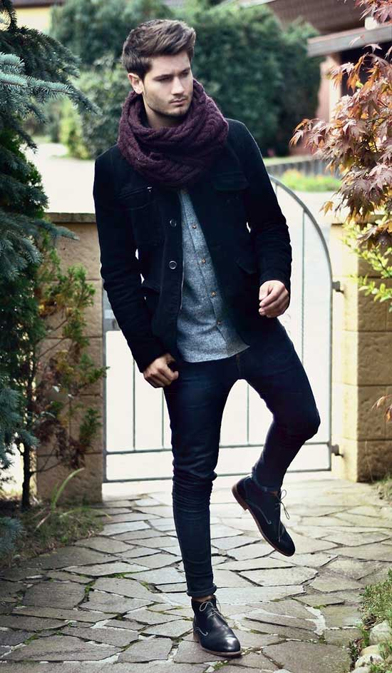 Fall Skinny Jeans Outfits for Men-30