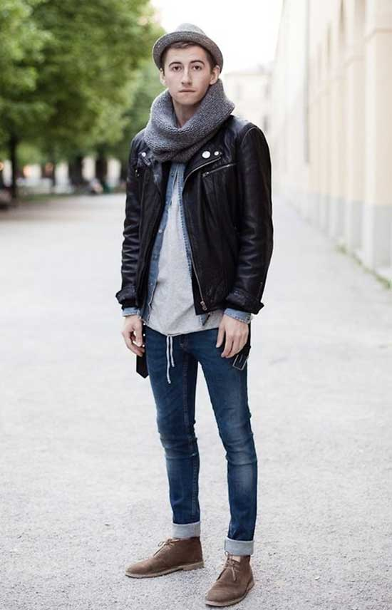 Fall Black Outfits for Men-32