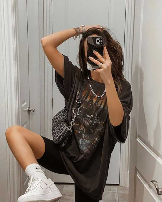 Aesthetic Biker Shorts Outfits