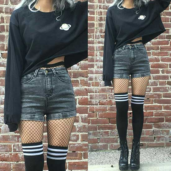 Cute Grunge Denim Outfits