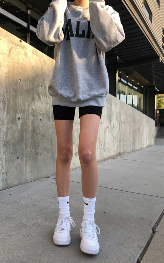 Swag Biker Shorts Outfits