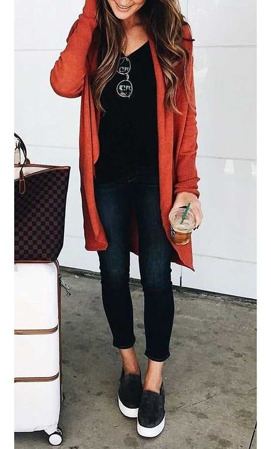 Red Cardigan Outfits-11