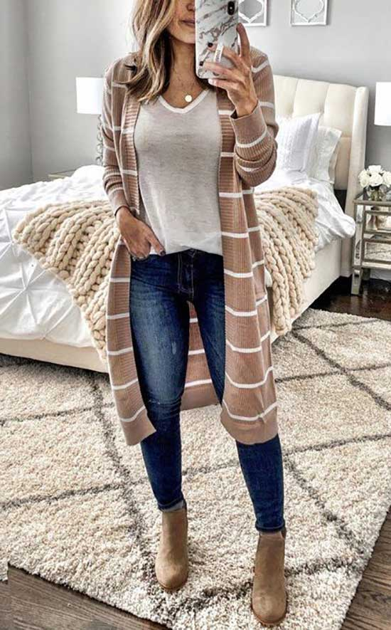Cardigan Date Night Outfits-14