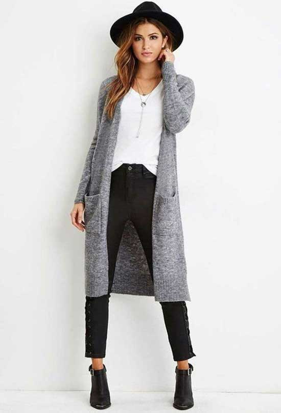 Gray Cardigan Outfits-16