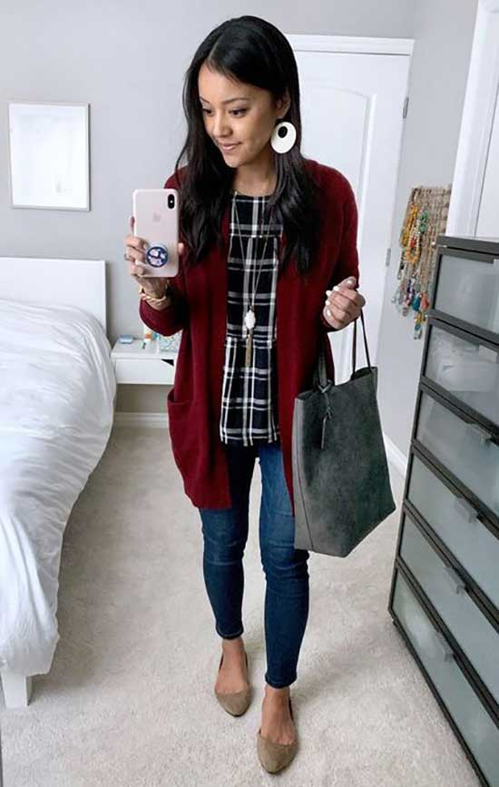 Business Casual Cardigan Outfits-17