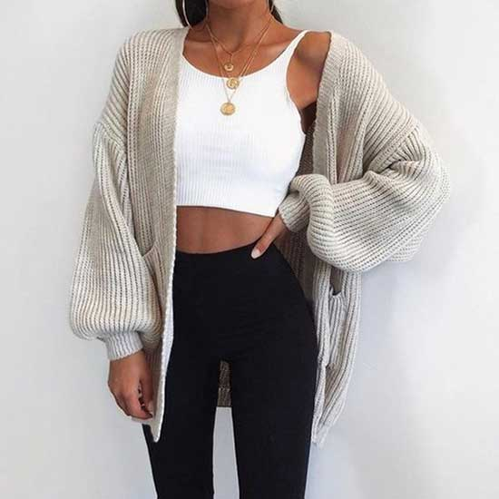 Cardigan Sweater Outfits-18