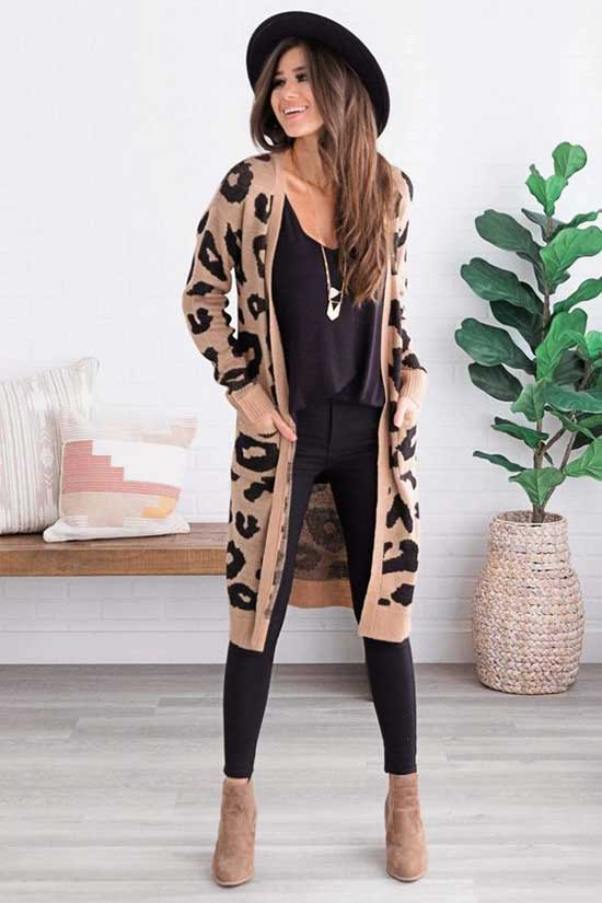 Leopard Cardigan Outfits-19