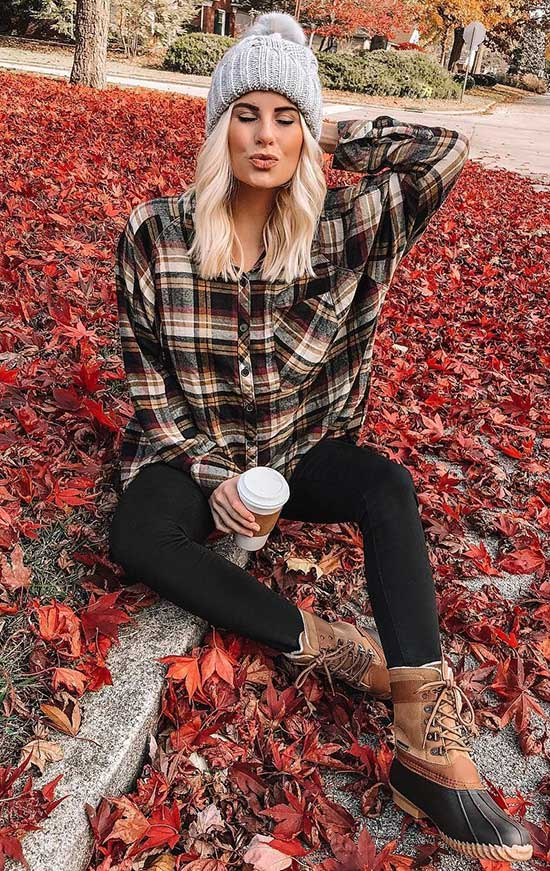 Flannel Shirt Outfit Ideas-26