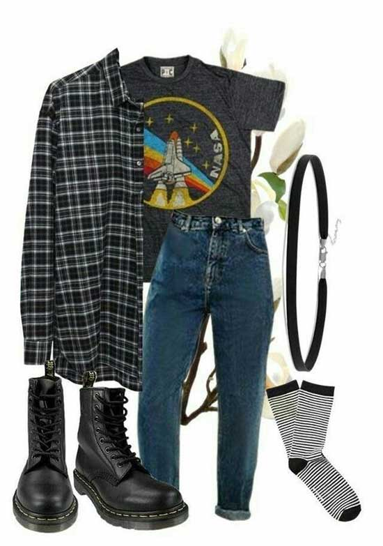 Flannel Shirt Outfit Ideas-27