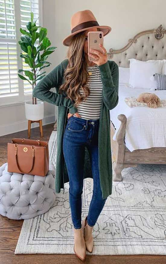 Green Cardigan Outfits-7