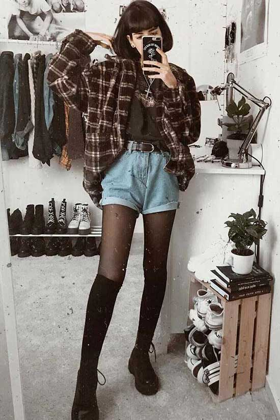 Aesthetic Flannel Shirt Outfit Ideas
