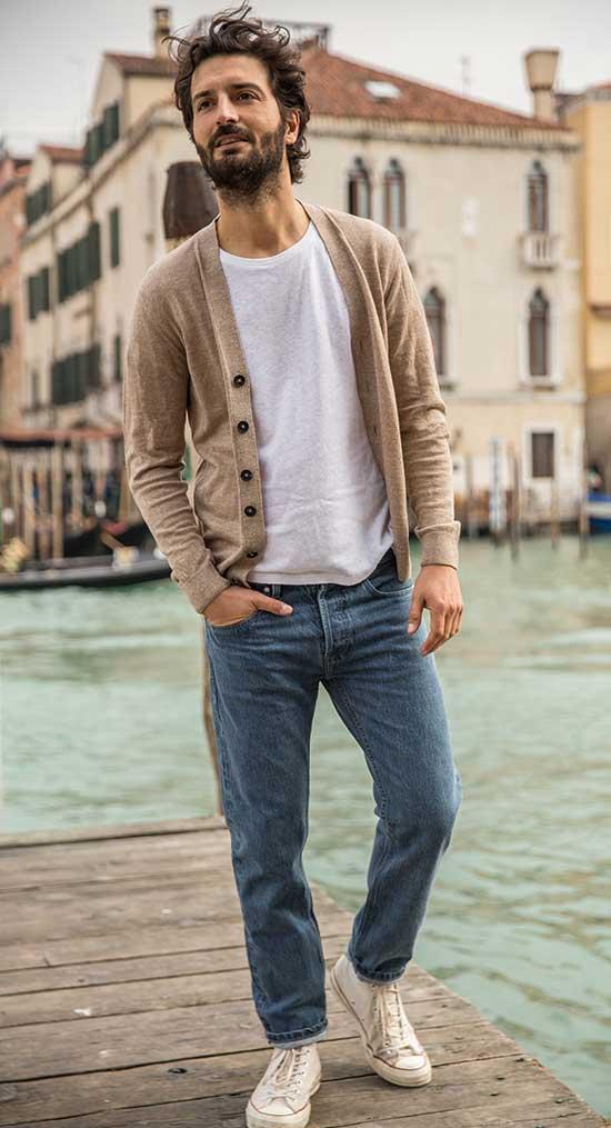 Brunch Cardigan Outfits for Men