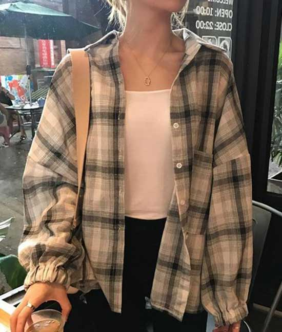Casual Flannel Shirt Outfit Ideas