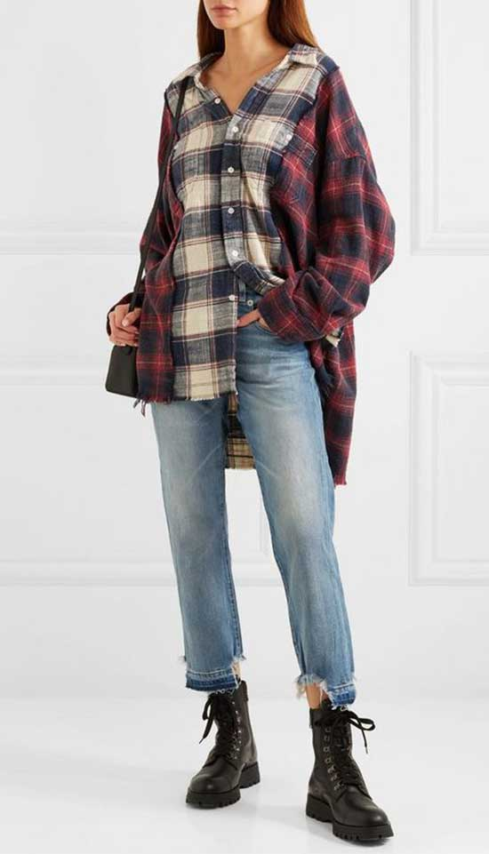Flannel Shirt Fall Outfit Ideas