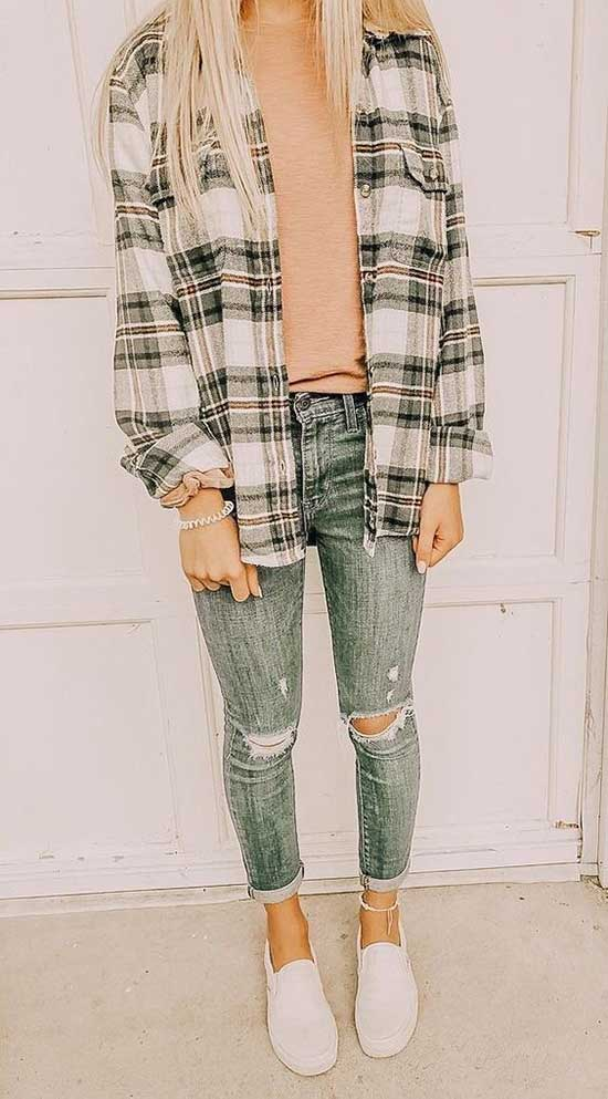 Flannel Shirt Outfit Ideas for School