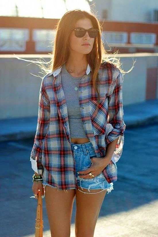 Flannel Shirt Summer Outfit Ideas
