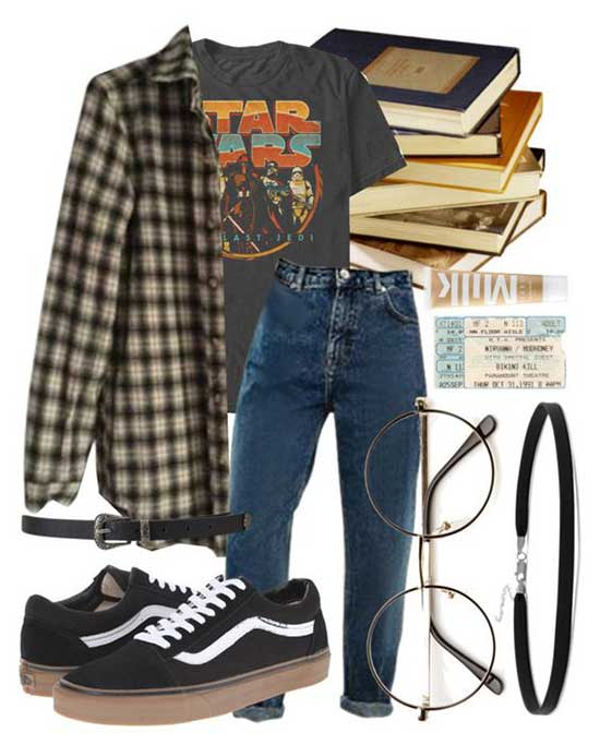 Grunge Flannel Shirt Outfit Ideas
