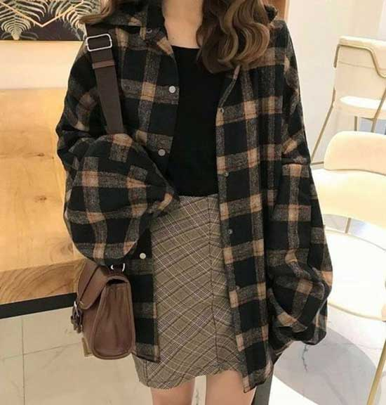 Oversized Flannel Shirt Outfit Ideas