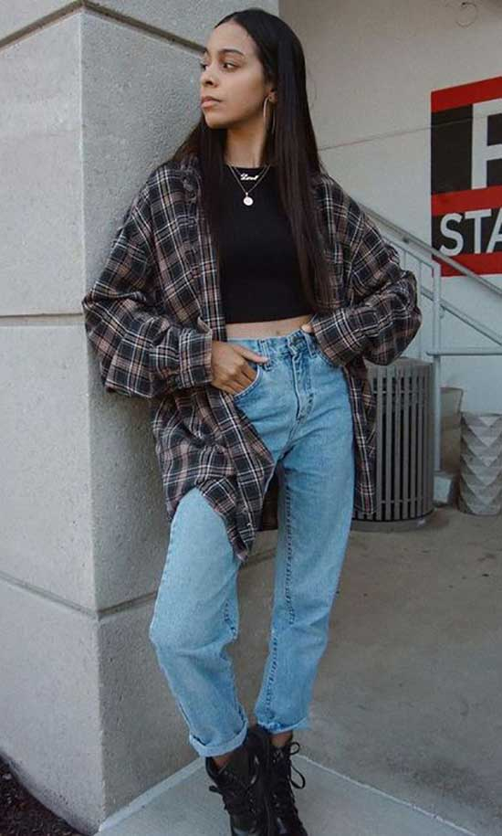 Trendy Flannel Shirt Outfit Ideas