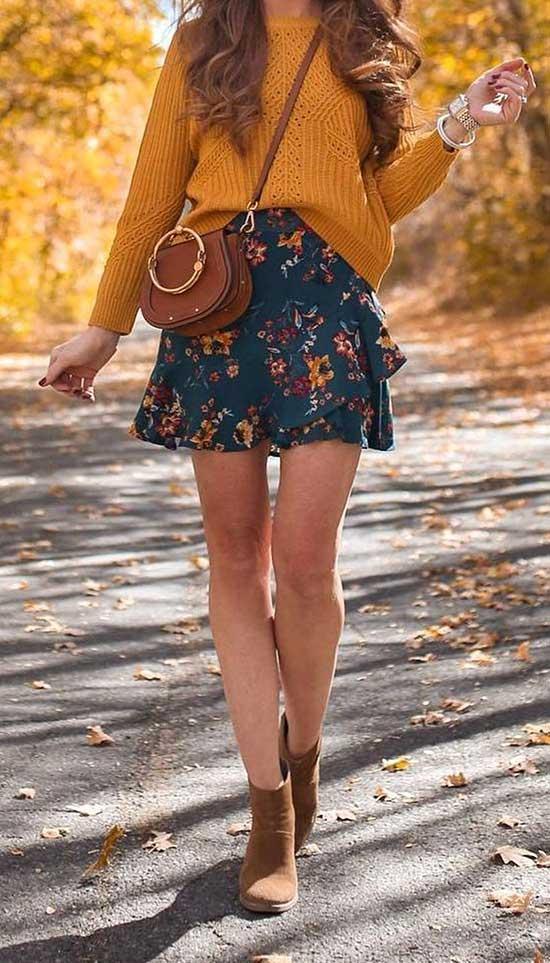 Cute Fall Dress Outfits 2020-15