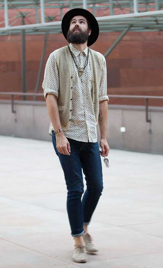 Casual Bohemian Outfits for Men-17