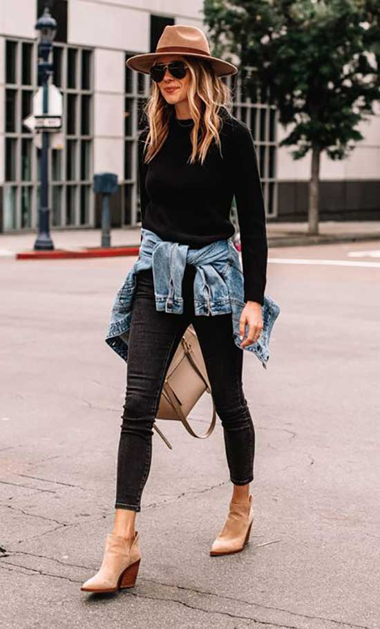 Cute Fall Skinny Jeans Outfits 2020-26