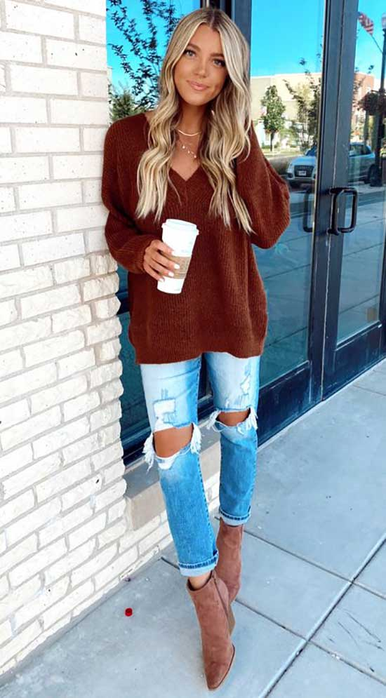 Cute Fall Boots Outfits 2020-27