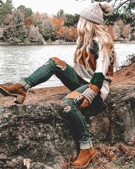 Cute Fall Sweater Outfits 2020-8